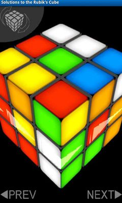 Solutions to the Rubik's Cube screenshot 1