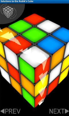 Solutions to the Rubik's Cube screenshot 2