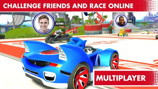 Screenshots do Sonic & all stars racing: Transformed - Perigoso para tablet e celular Android.