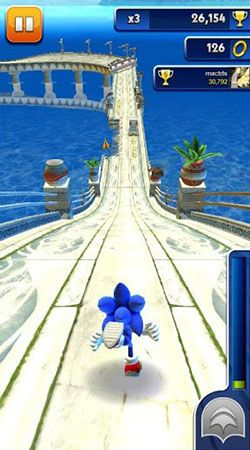 Download Sonic dash Android free game.