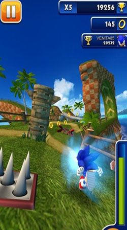 Screenshots do Sonic dash - Perigoso para tablet e celular Android.