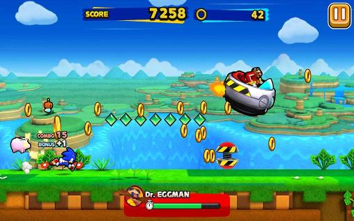 Screenshots von Sonic: Runners für Android-Tablet, Smartphone.