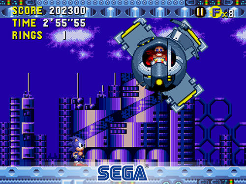 Kostenloses Android-Game Sonic the Hedgehog: CD Klassiker. Vollversion der Android-apk-App Hirschjäger: Die Sonic the hedgehog: CD classic für Tablets und Telefone.