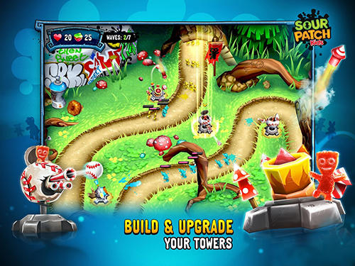 Screenshots von Sour patch kids: Candy defense für Android-Tablet, Smartphone.