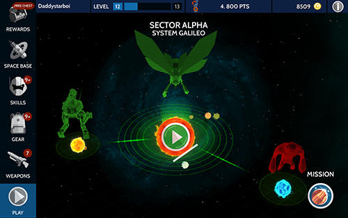 Screenshots von Space pioneer: Shoot, build and rule the galaxy für Android-Tablet, Smartphone.