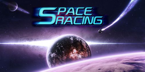 Space racing 3D poster