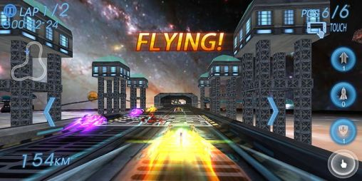 Juega a Space racing 3D para Android. Descarga gratuita del juego Carreras espaciales 3D.