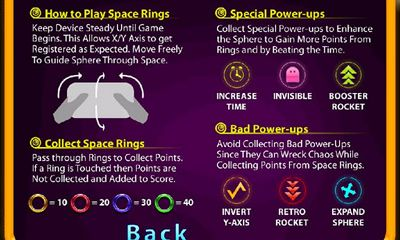 Download Space Rings 3D Android free game.
