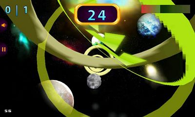 Screenshots of the Space Rings 3D for Android tablet, phone.
