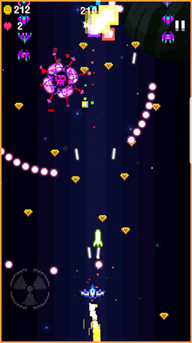 Jogue Space war: 2D pixel retro shooter para Android. Jogo Space war: 2D pixel retro shooter para download gratuito.