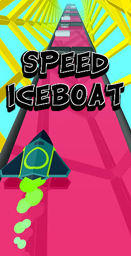 Speed iceboat poster