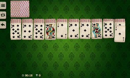 Kostenloses Android-Game Spinnen Solitär. Vollversion der Android-apk-App Hirschjäger: Die Spider solitaire by Elvista media solutions für Tablets und Telefone.