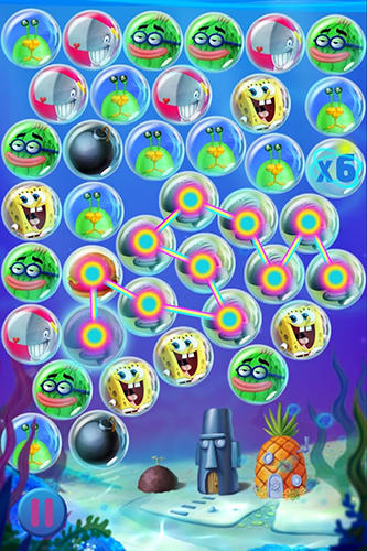 Sponge Bob bubble party für Android spielen. Spiel SpongeBob Blasen-Party kostenloser Download.