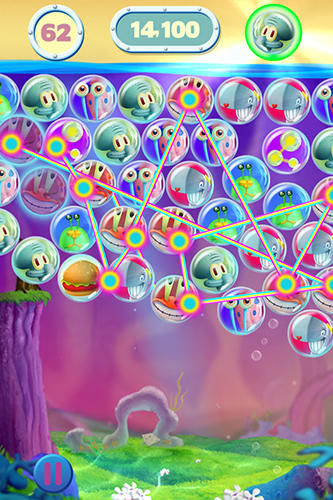 Screenshots von Sponge Bob bubble party für Android-Tablet, Smartphone.