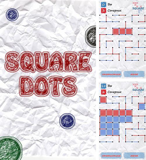 In addition to the game 3D dominoes for Android phones and tablets, you can also download Square: Dots for free.