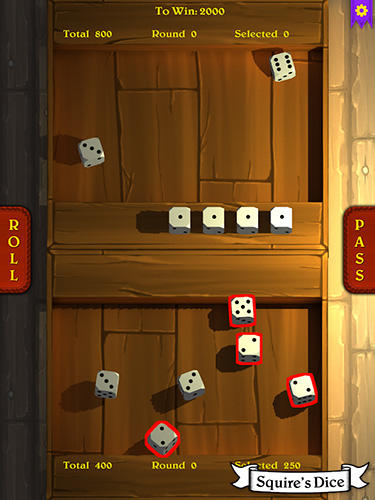 Screenshots von Squire's dice für Android-Tablet, Smartphone.
