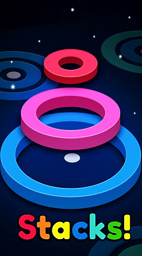 Stackz: Put the rings on. Color puzzle
