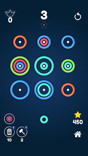 Juega a Stackz: Put the rings on. Color puzzle para Android. Descarga gratuita del juego Pilas: Ponte los anillos. Rompecabezas de color.
