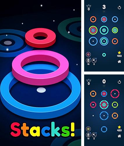 En plus du jeu Une pièce  pour téléphones et tablettes Android, vous pouvez aussi télécharger gratuitement Stackz: Mettez les anneaux. Puzzle coloré, Stackz: Put the rings on. Color puzzle.