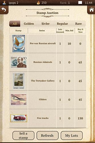 Stamps collector screenshot 1