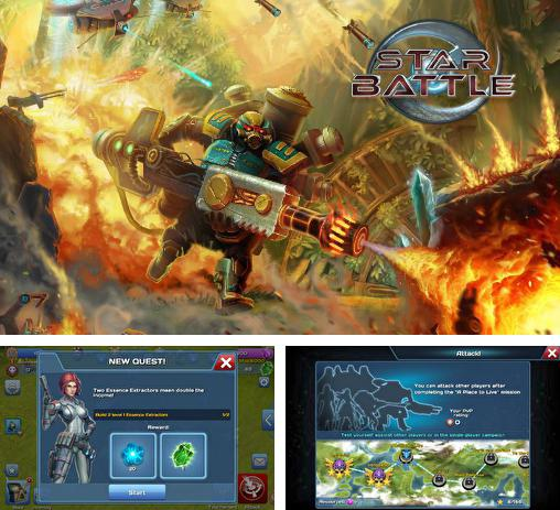 In addition to the game Army of heroes for Android phones and tablets, you can also download Star battle: Clan wars for free.