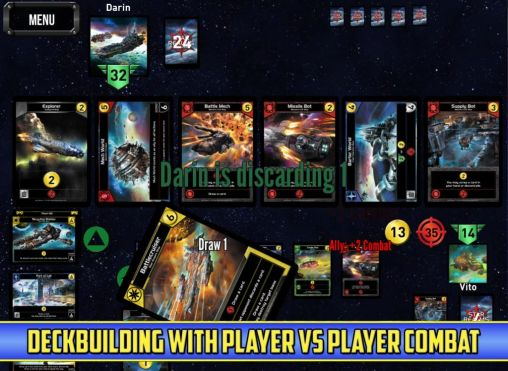 Screenshots of the Star realms for Android tablet, phone.