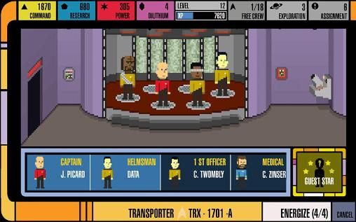 Screenshots von Star trek: Trexels für Android-Tablet, Smartphone.