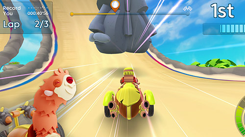 Screenshots von Starlit on wheels: Super kart für Android-Tablet, Smartphone.