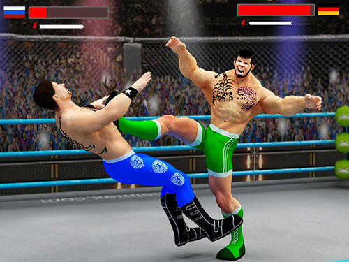 Screenshots do Stars wrestling revolution 2017: Real punch boxing - Perigoso para tablet e celular Android.