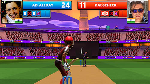 Screenshots von Stick cricket live für Android-Tablet, Smartphone.