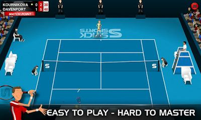 Screenshots von Stick Tennis für Android-Tablet, Smartphone.