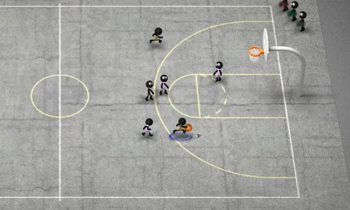 Геймплей Stickman basketball для Android телефону.