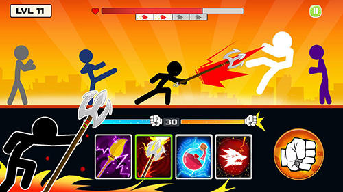 Гра Stickman fighter: Mega brawl на Android - повна версія.