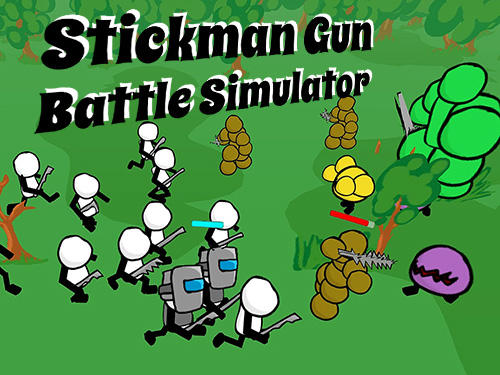 Stickman gun battle simulator poster