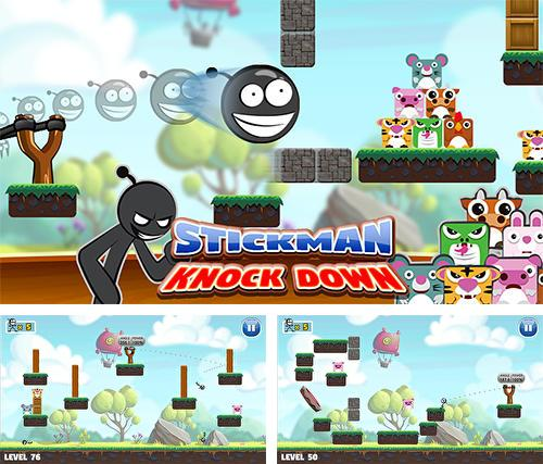 Stickman: Knockdown. Slingshot king