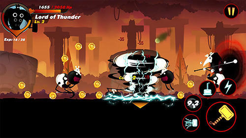 Kostenloses Android-Game Stickman Legende: Schattenrache. Vollversion der Android-apk-App Hirschjäger: Die Stickman legend: Shadow revenge für Tablets und Telefone.