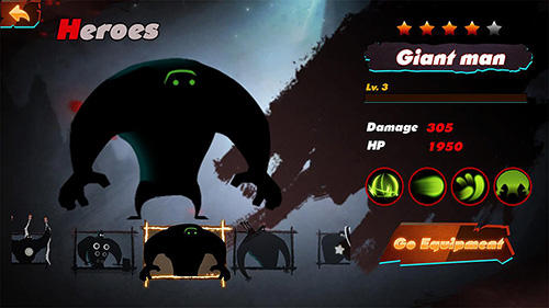 Screenshots von Stickman legend: Shadow revenge für Android-Tablet, Smartphone.