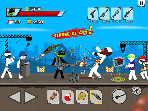 Screenshots von Stickman maverick: Bad boys killer für Android-Tablet, Smartphone.