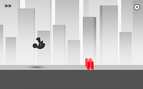 Гра Stickman parkour runner на Android - повна версія.