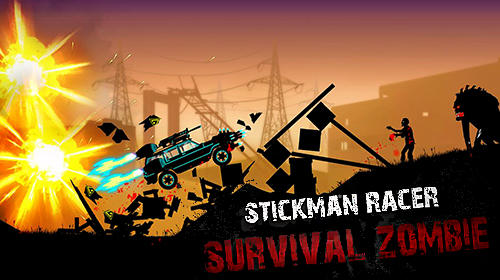 Stickman racer: Survival zombie