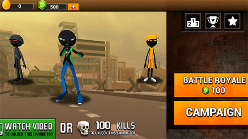 Stickman royale: World war battle screenshot 1