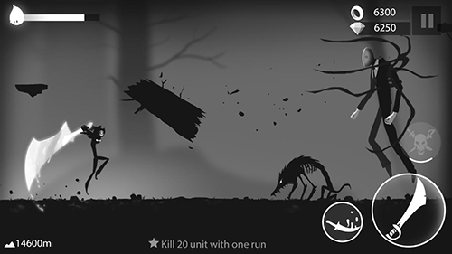 安卓平板、手机Stickman run: Shadow adventure截图。