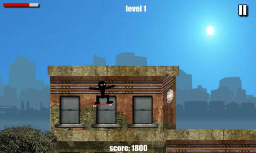 Screenshots of the Stickman skate for Android tablet, phone.