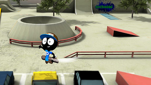 Stickman skate battle скриншот 5