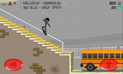 Screenshots do Stickman Skater Pro - Perigoso para tablet e celular Android.