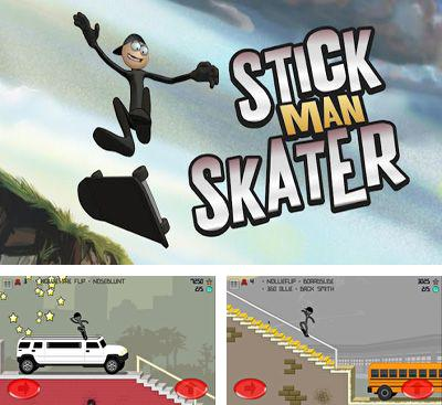 In addition to the game Stickman skate for Android phones and tablets, you can also download Stickman Skater Pro for free.