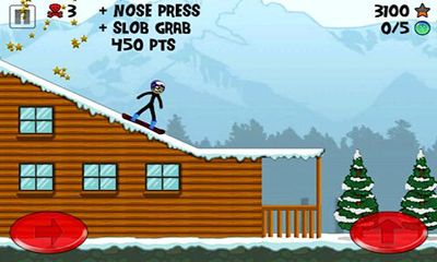 Screenshots von Stickman Snowboarder für Android-Tablet, Smartphone.