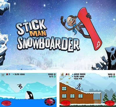 In addition to the game Stickman Ski Racer for Android phones and tablets, you can also download Stickman Snowboarder for free.