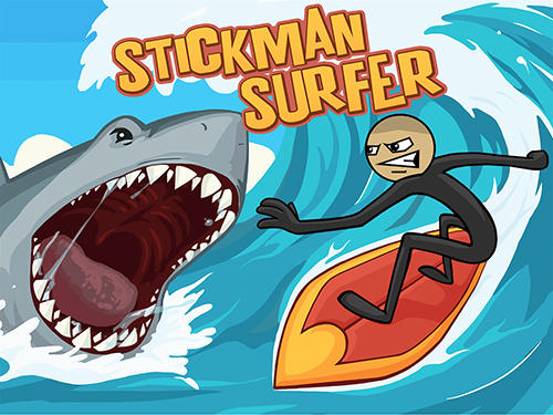 Stickman surfer poster