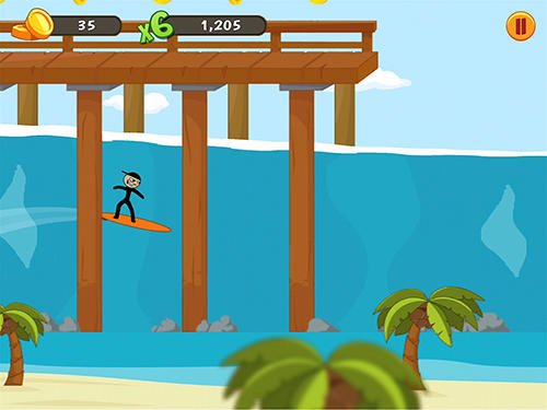 Stickman surfer screenshot 3